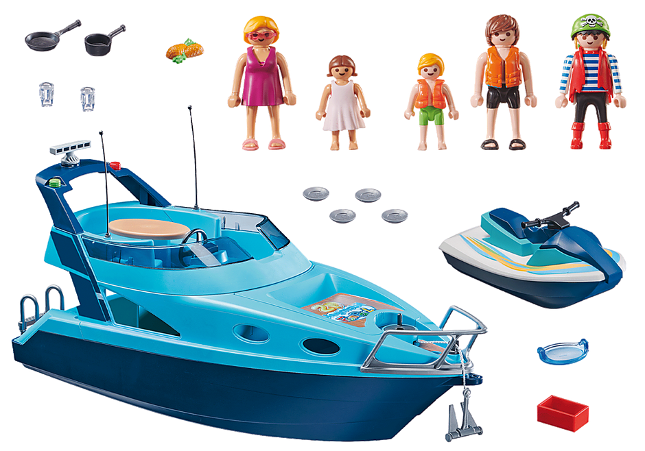 70630 PLAYMOBIL-FunPark Iate com moto de àgua detail image 3