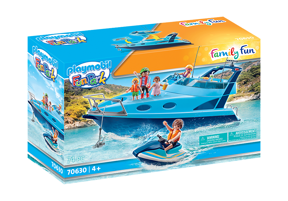 70630 PLAYMOBIL-FunPark Yacht mit Jet Ski detail image 2