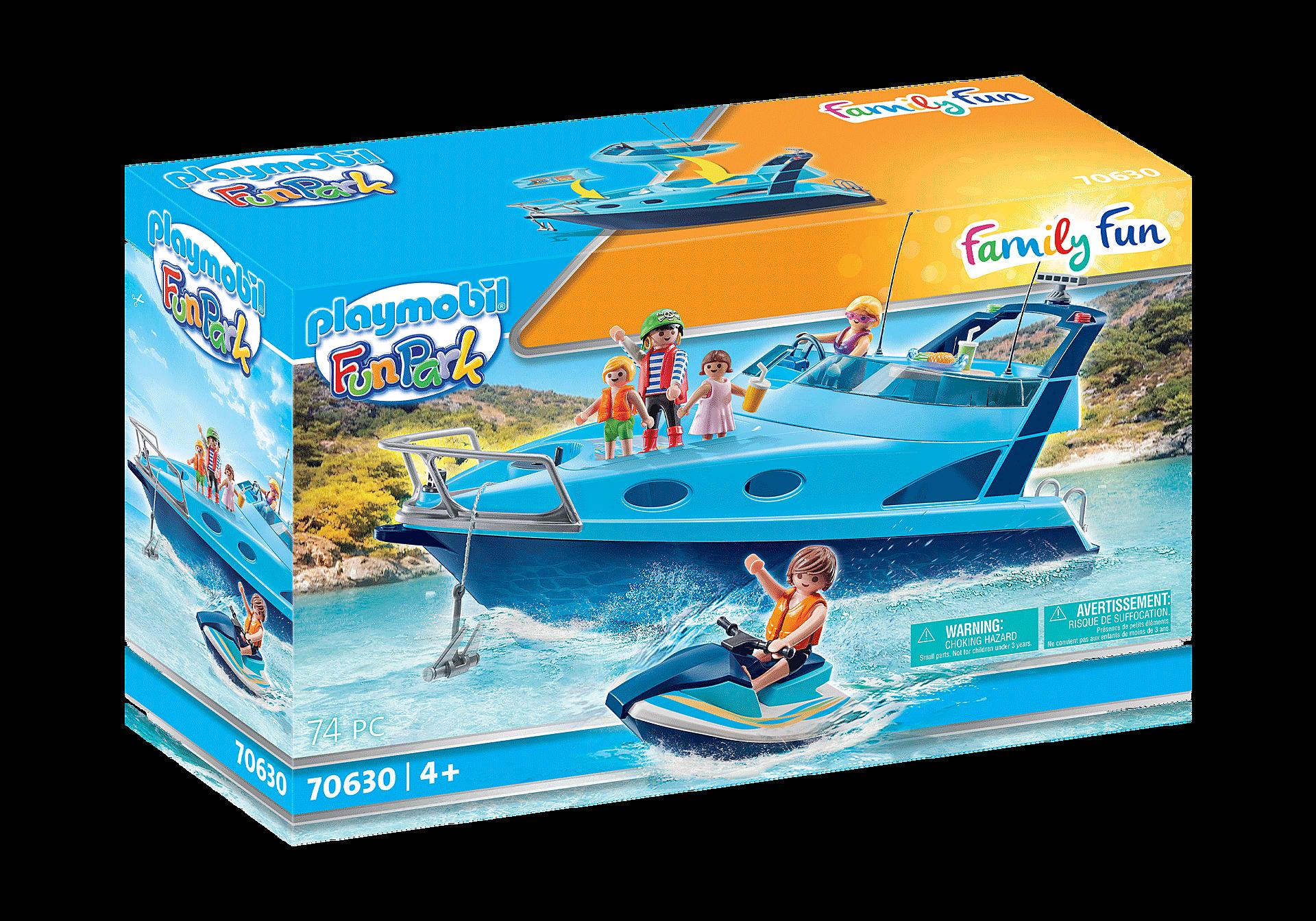 70630 PLAYMOBL-FunPark Yate con moto de agua zoom image2