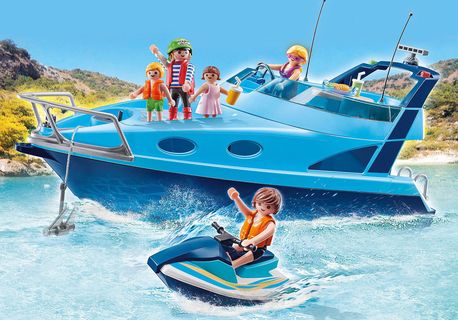 70630 PLAYMOBIL - Funpark jacht met waterscooter zoom image1