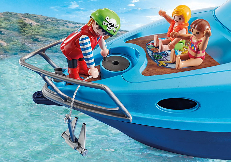 70630 PLAYMOBIL-FunPark Iate com moto de àgua detail image 5