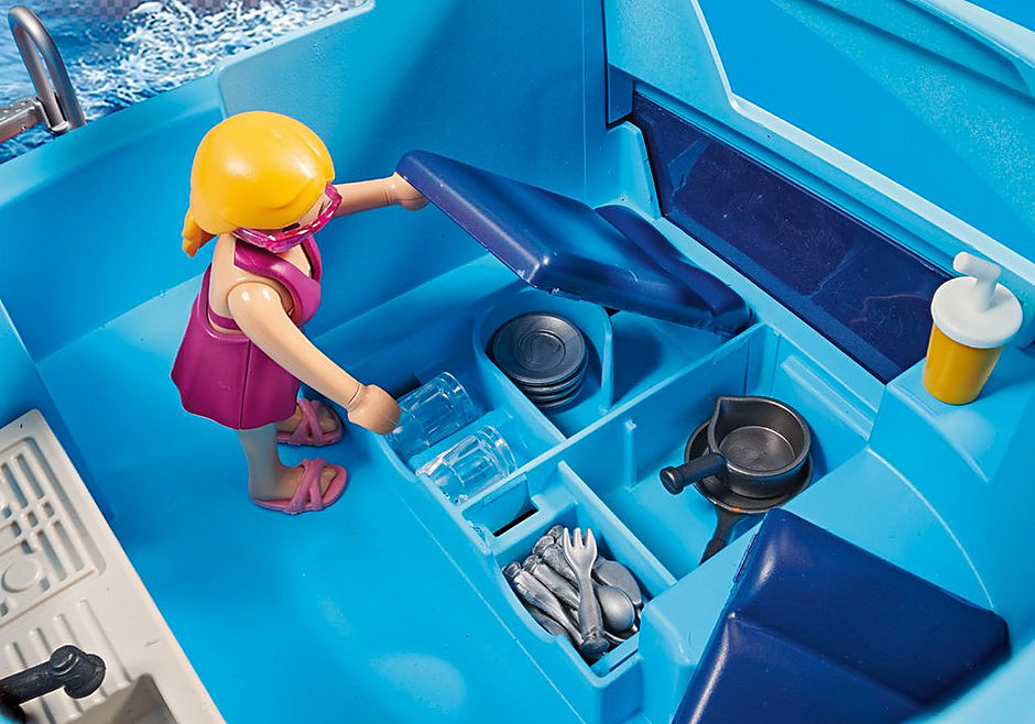 70630 PLAYMOBIL-FunPark Yacht e moto d'acqua detail image 6