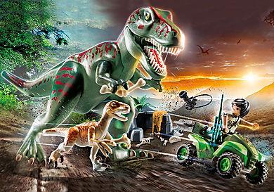 70632 Explorateur avec quad et dinosaures