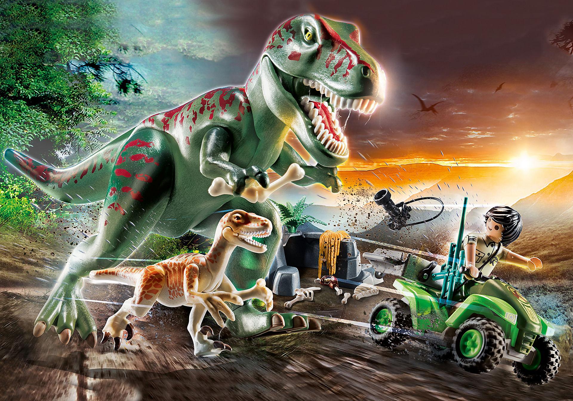 70632 Explorateur avec quad et dinosaures zoom image1