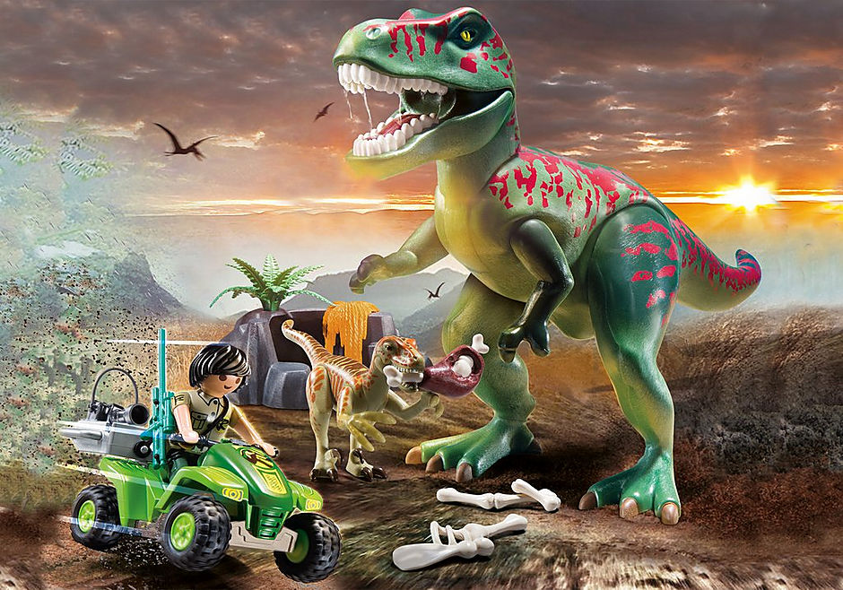 70632 Explorateur avec quad et dinosaures detail image 5