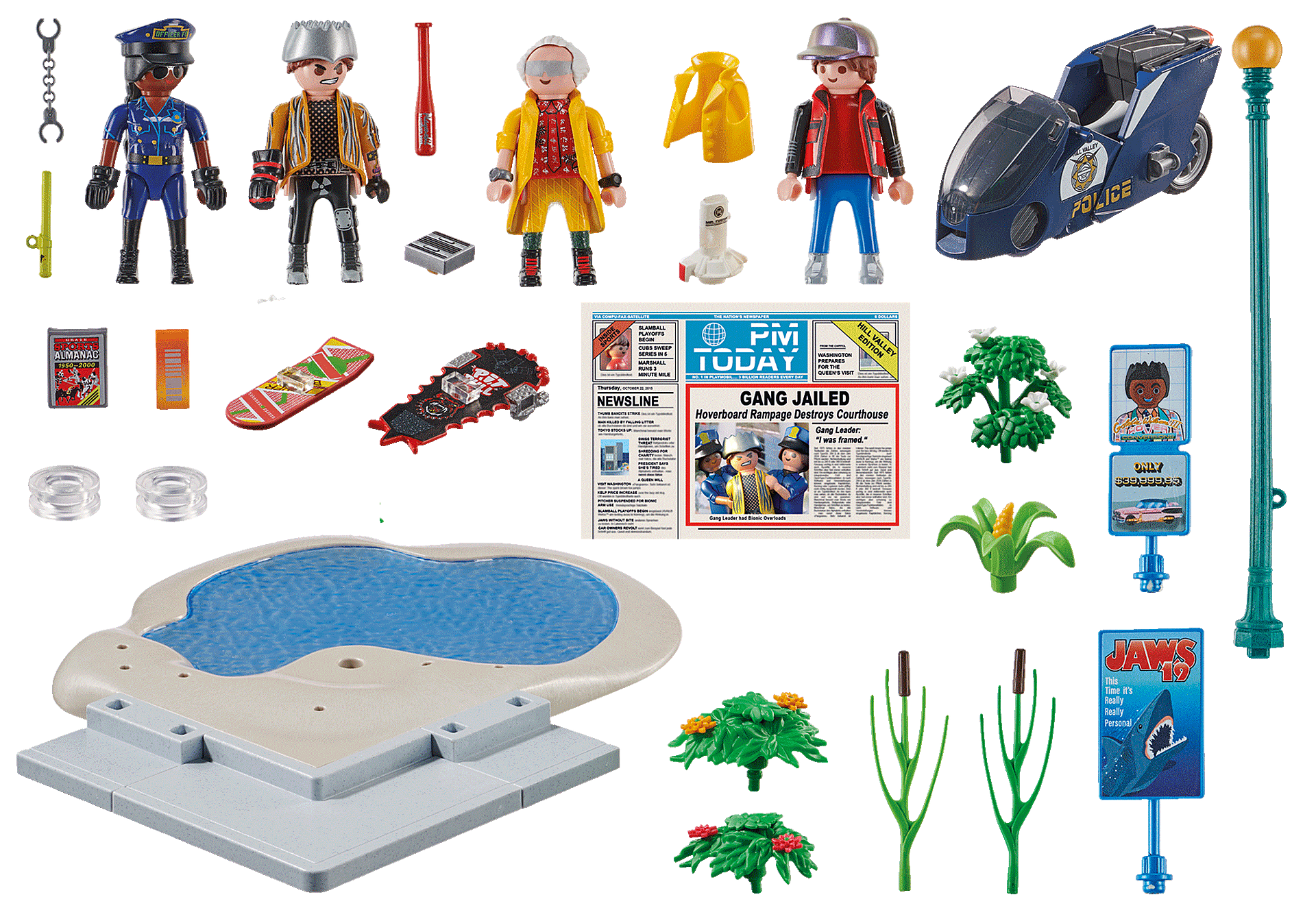 70634 Back to the Future Part II Hoverboard-jagten zoom image3