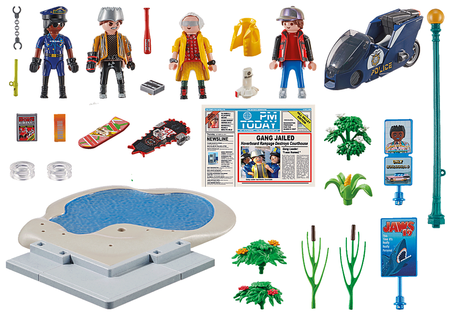 70634 Back to the Future Part II Verfolgung mit Hoverboard detail image 3
