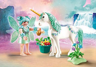 70655 Unicorno con fata della natura