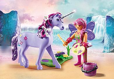 70657 Unicorno con fata delle decorazioni