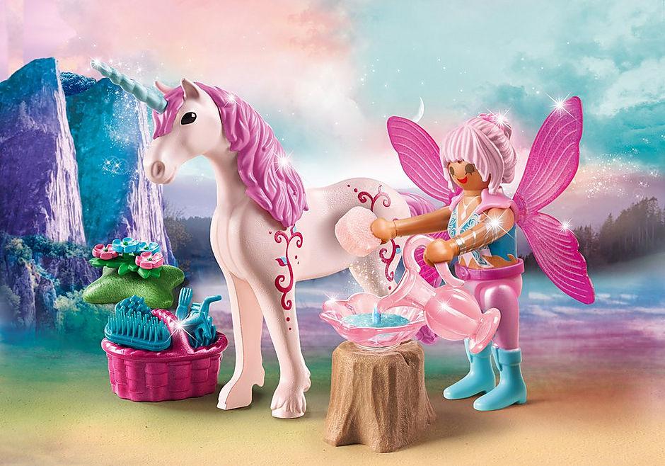 70658 Unicorno con fata della bellezza detail image 1