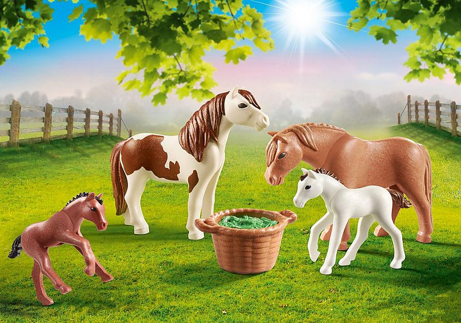 70682 Ponnyhästar med föl detail image 1