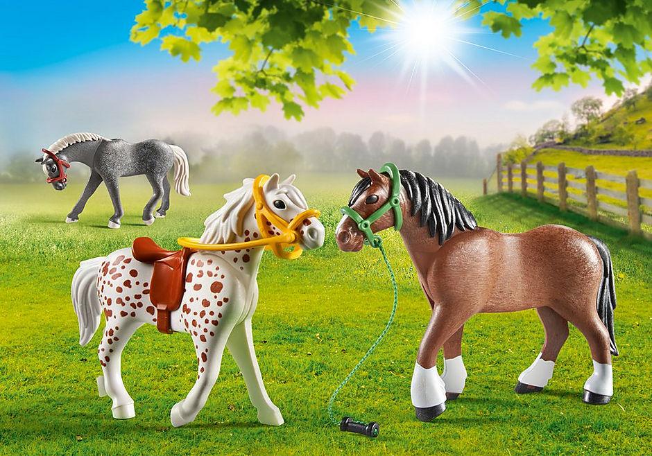 70683 3 hästar detail image 1