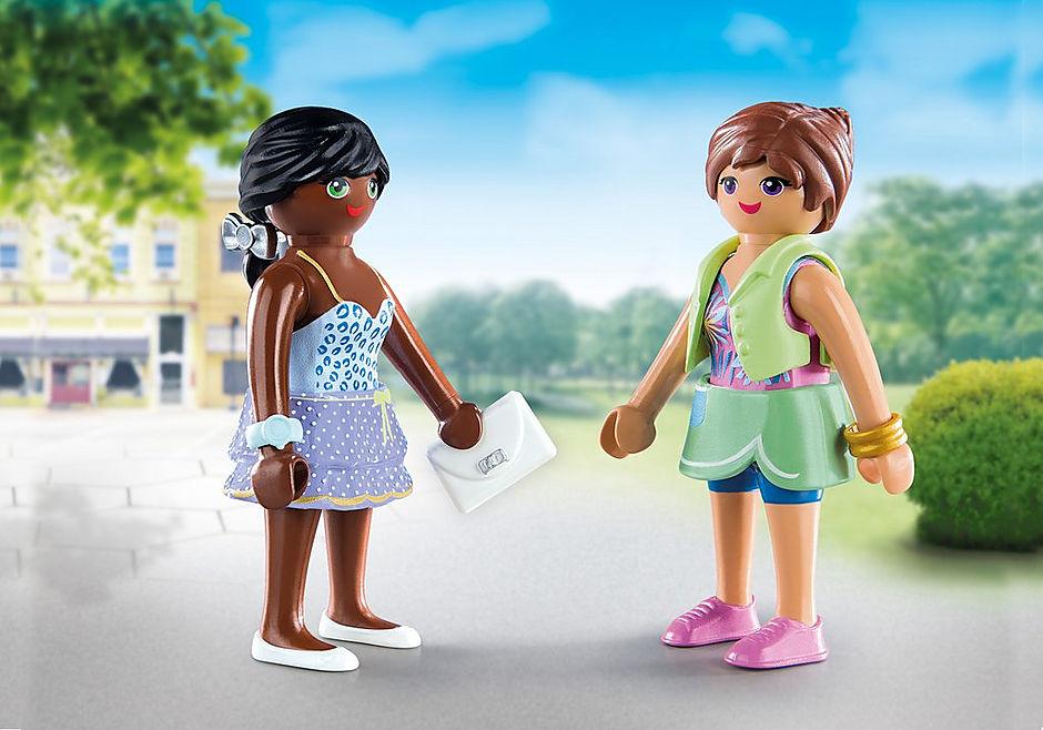 70691 PLAYMOBIL Duo Jeunes filles et sacs detail image 1
