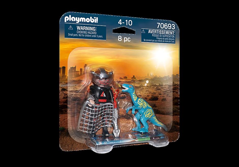 70693 DuoPack Velociraptor ja dinosauruksen pyydystäjä detail image 2