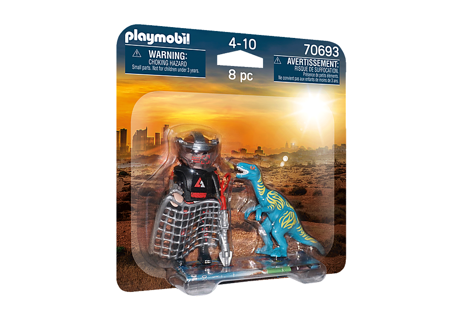 70693 DuoPack Velociraptor med dinofanger detail image 2