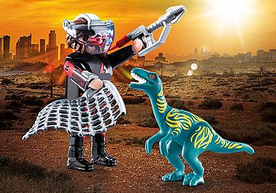 70693 DuoPack Velociraptor ja dinosauruksen pyydystäjä