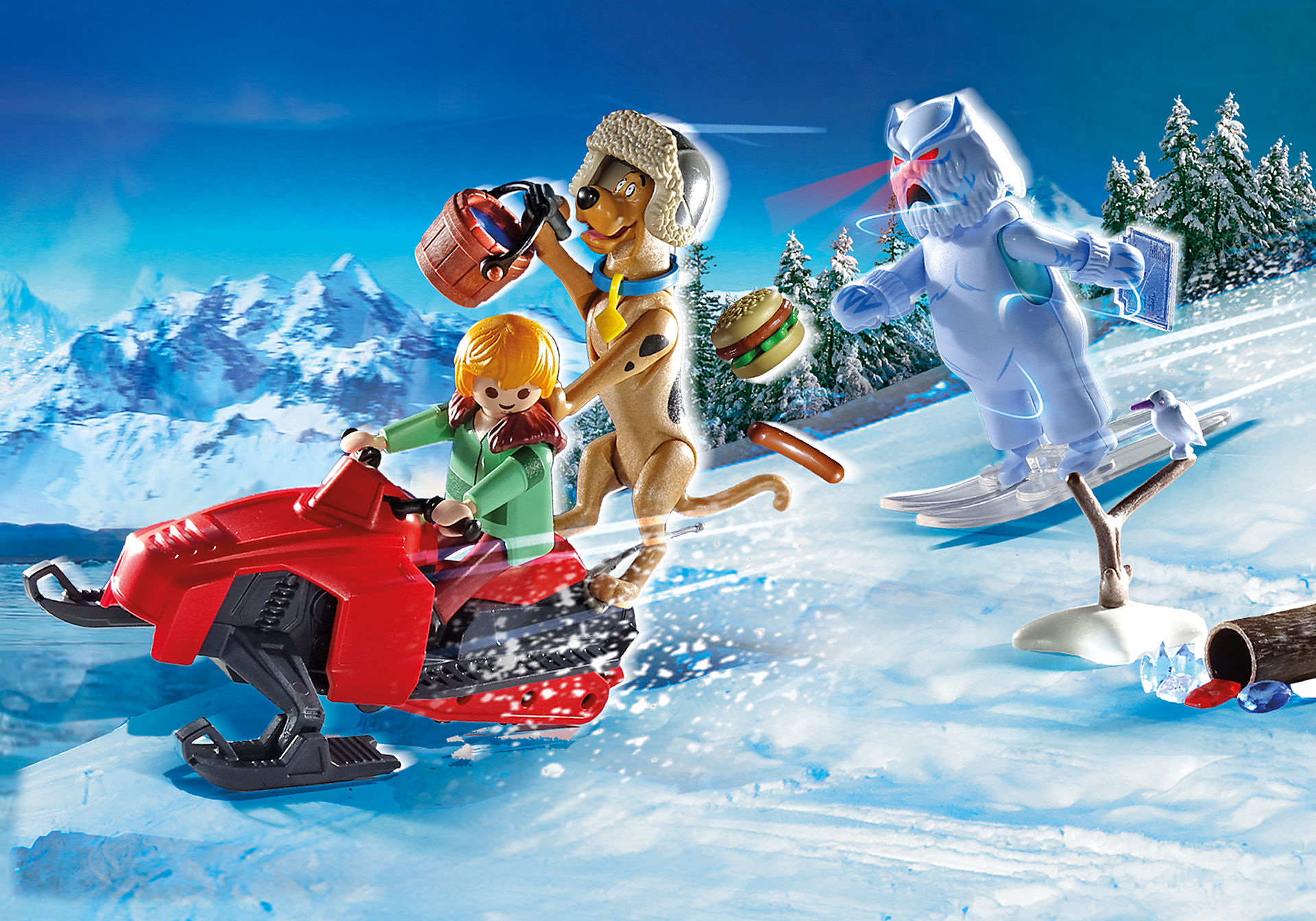70706 SCOOBY-DOO avec abominable spectre des neiges  zoom image1