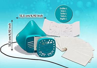 70722 PLAYMOBIL Nase-Mund-Maske Größe L - türkis