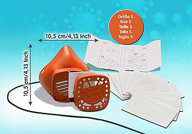 70726 Máscara para nariz e boca da PLAYMOBIL tamanho S laranja