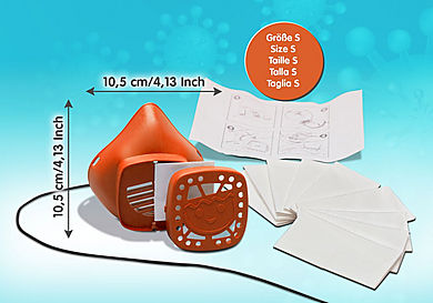 70726 PLAYMOBIL Nase-Mund-Maske Größe S - orange