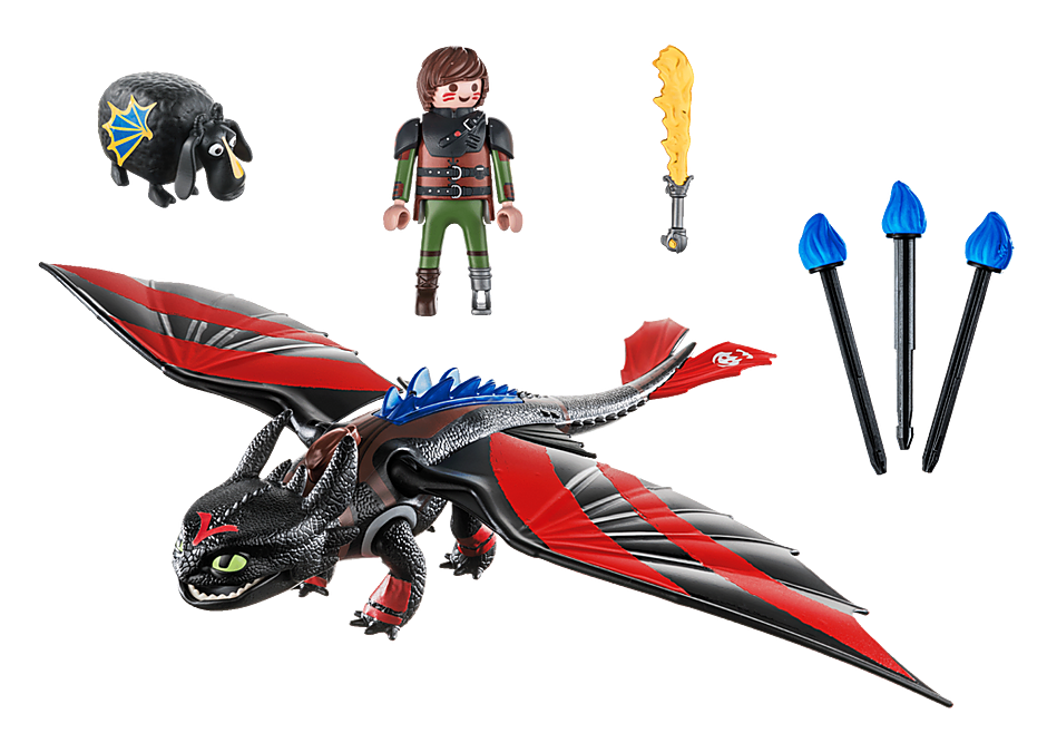 70727 Dragon Racing: Hiccup and Toothless detail image 3