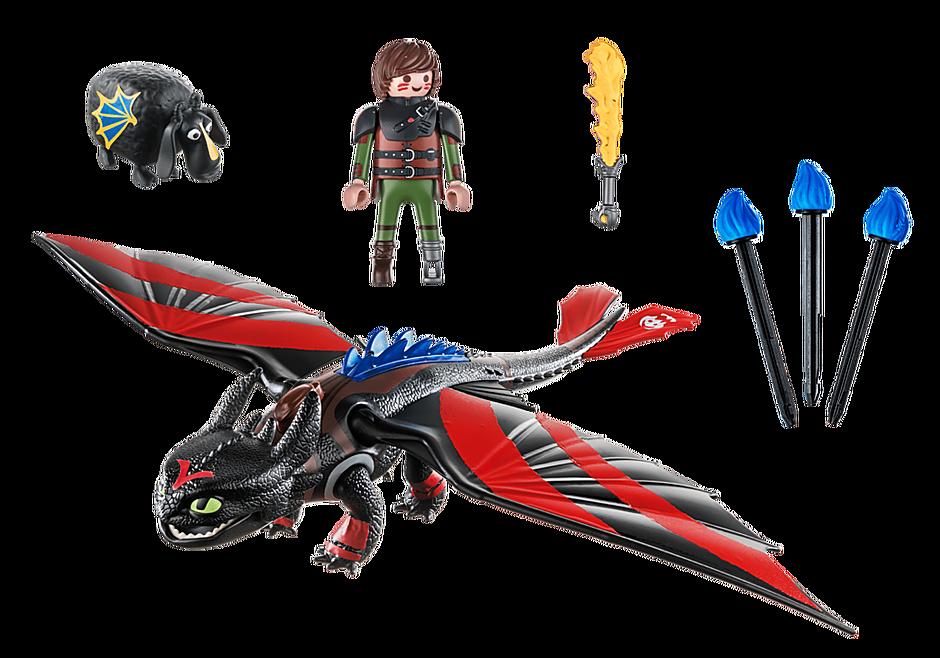 70727 Dragon Racing: Hiccup e Sdentato detail image 3