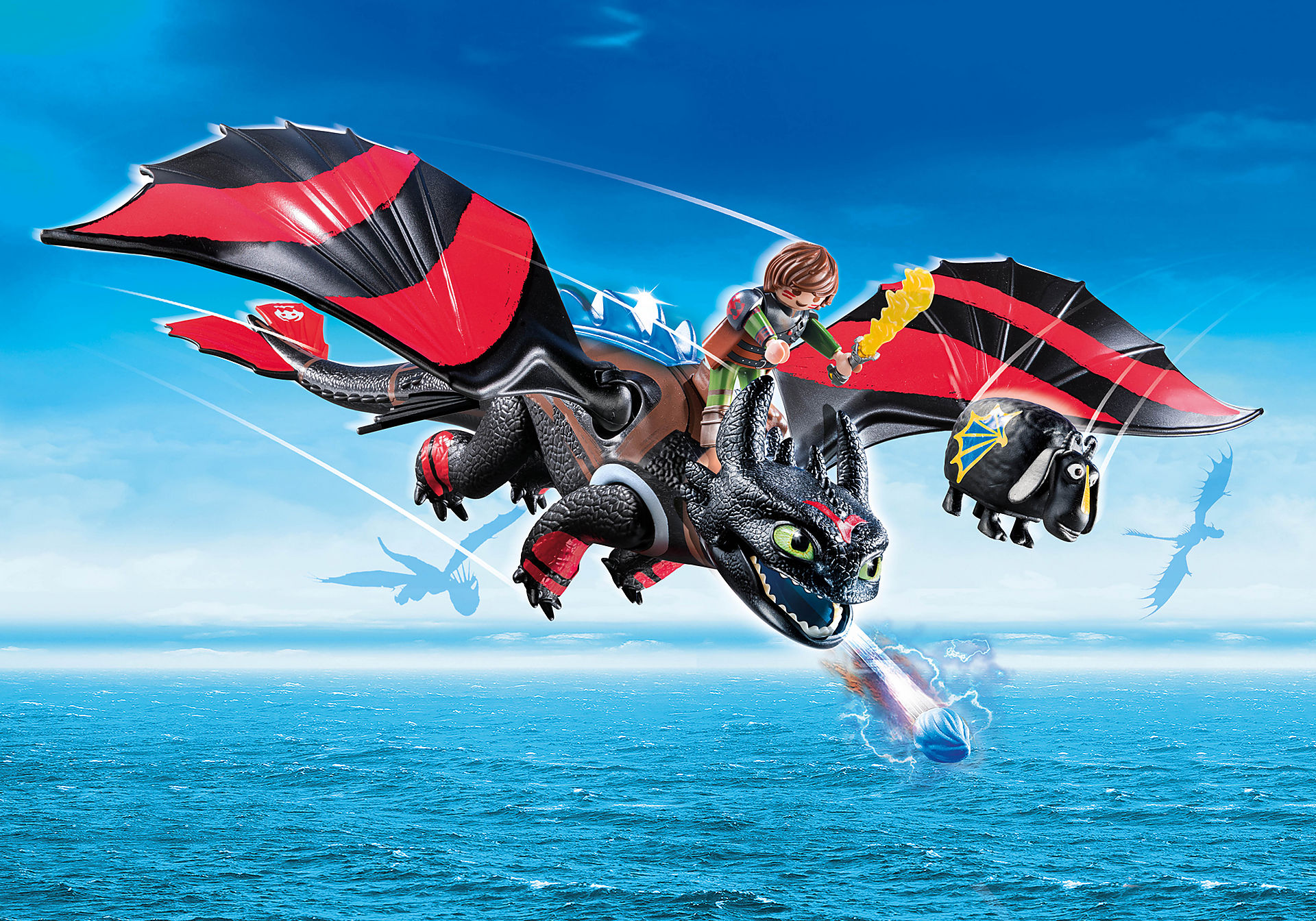 70727 Dragon Racing: Hiccup e Desdentado  zoom image1