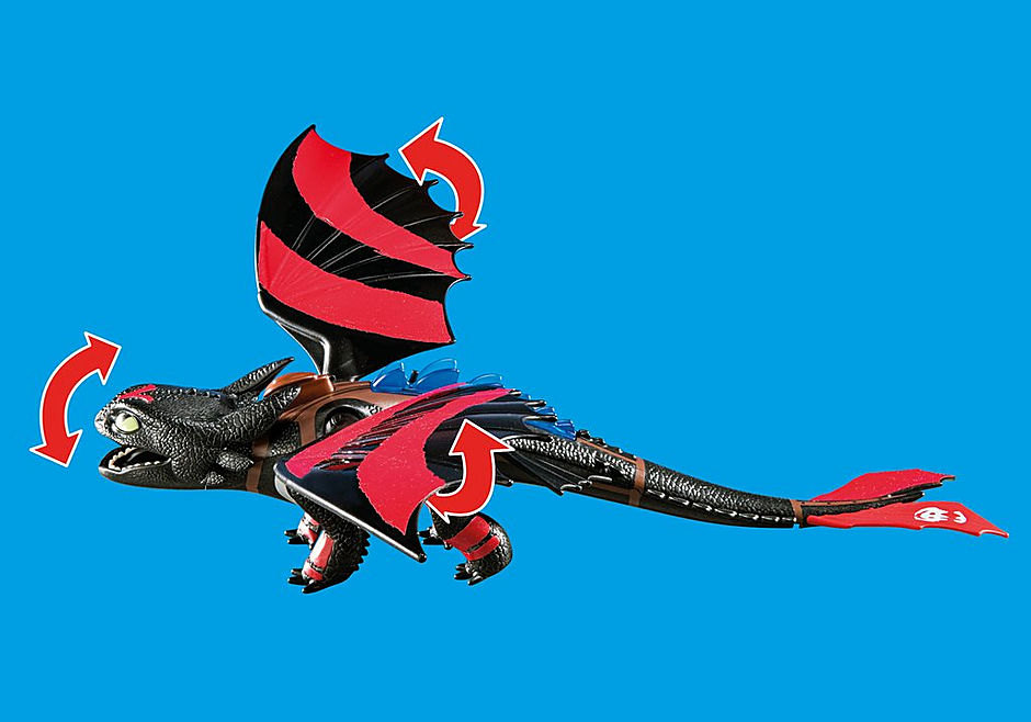70727 Dragon Racing: Hiccup e Sdentato detail image 6