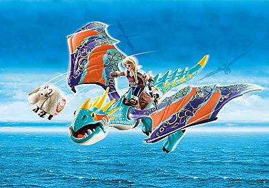 70728 Dragon Racing: Astrid og Flakser