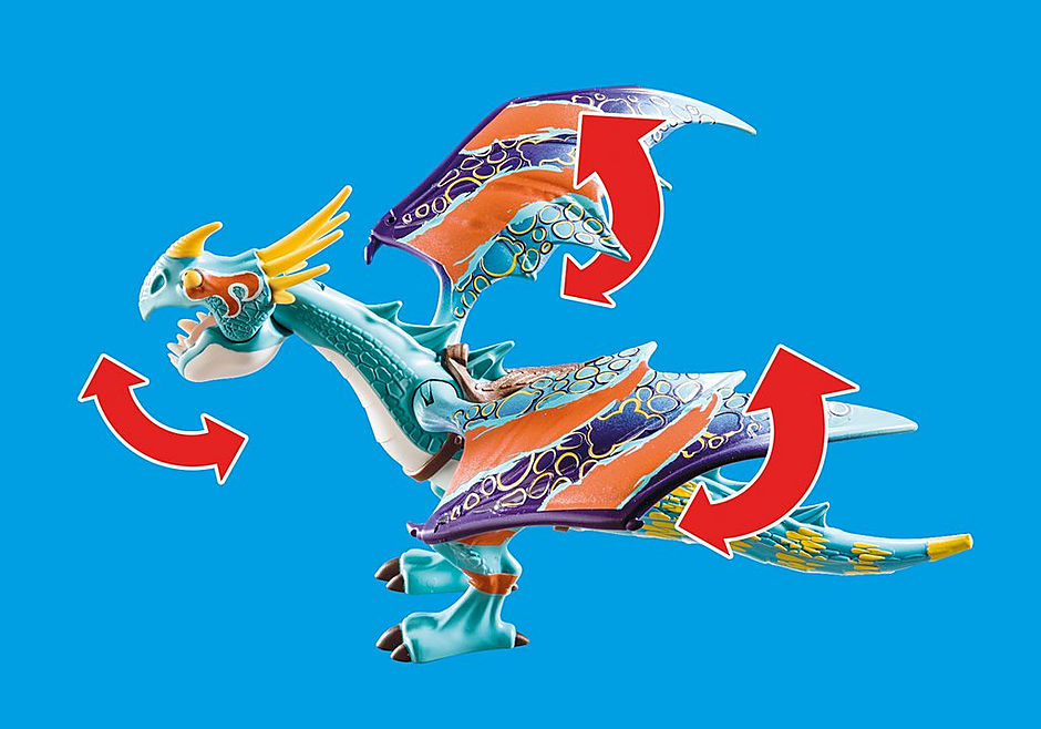 70728 Dragon Racing: Astrid und Sturmpfeil detail image 5