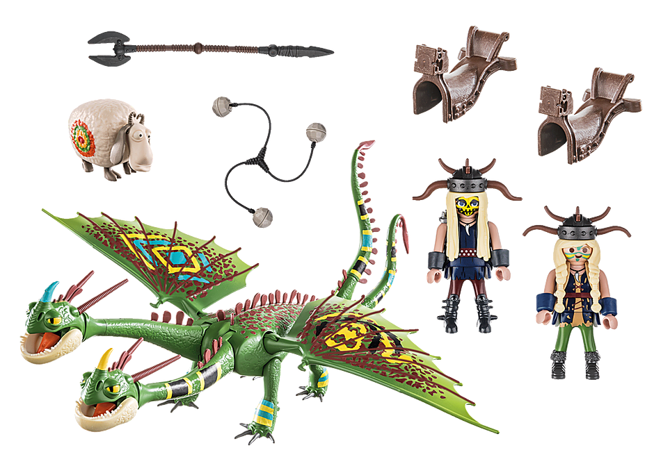 70730 Dragon Racing: Ruffnut and Tuffnut with Barf and Belch  detail image 3