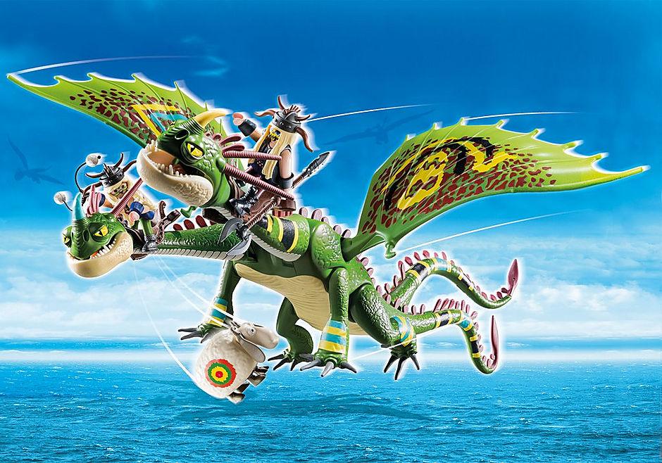 70730 Dragon Racing: Dragón 2 Cabezas con Chusco y Brusca detail image 1