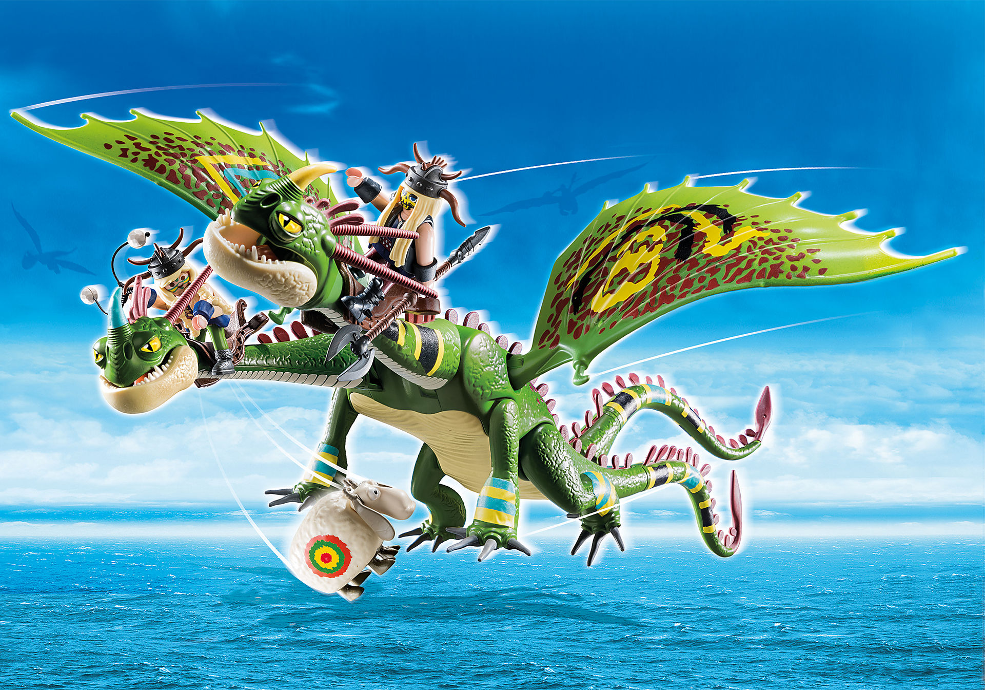 70730 Dragon Racing: Dragón 2 Cabezas con Chusco y Brusca zoom image1