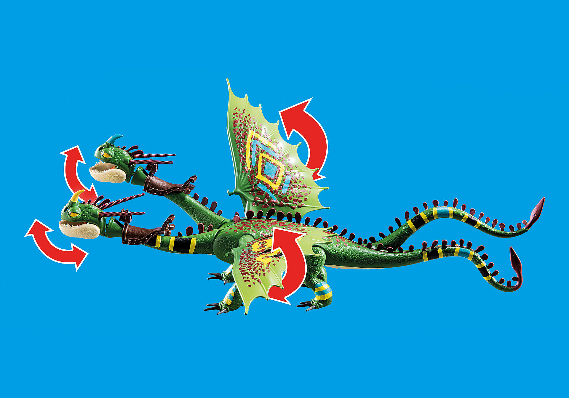 70730 Dragon Racing: Dragón 2 Cabezas con Chusco y Brusca zoom image4