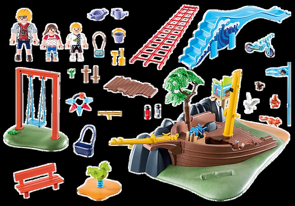 70741 Avontuurlijke speeltuin met scheepswrak detail image 3