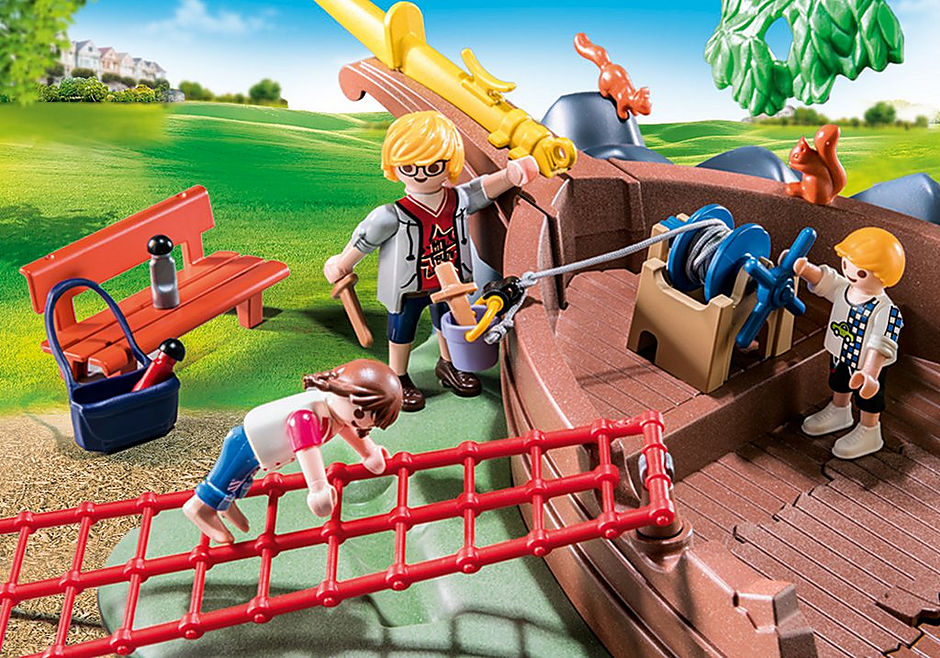 70741 Avontuurlijke speeltuin met scheepswrak detail image 5