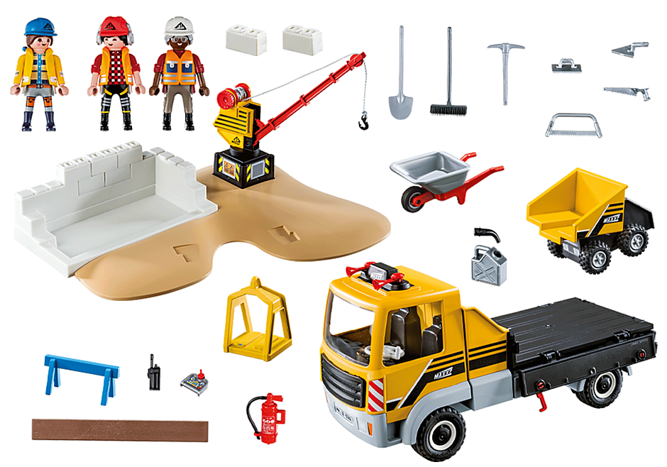 70742 Construction Site with Flatbed Truck detail image 3