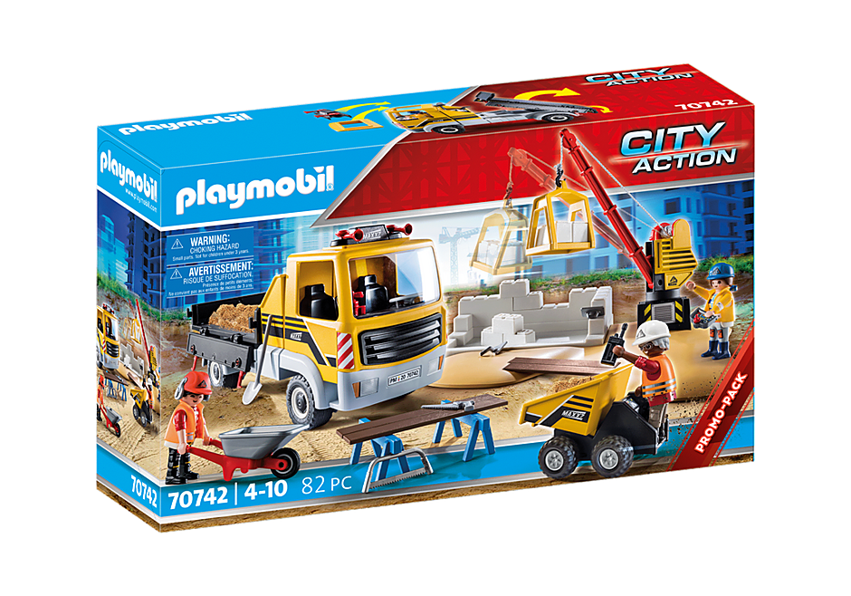 70742 Construction Site with Flatbed Truck detail image 2