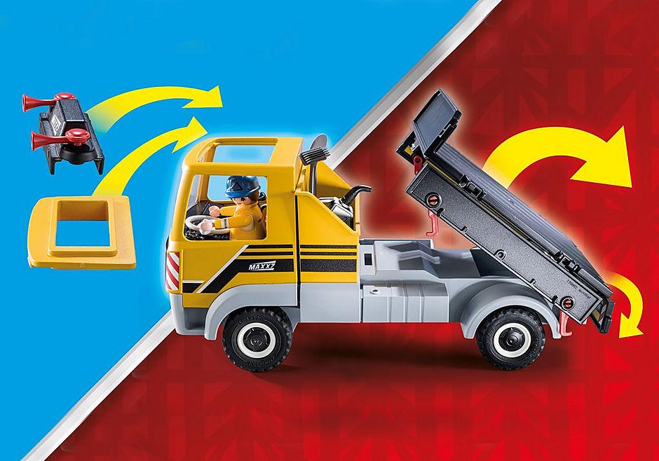 70742 Site de travaux avec camion et ouvriers detail image 6
