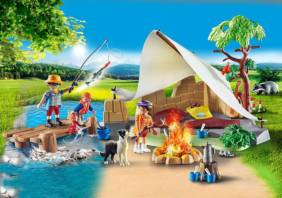 70743 Famiglia in campeggio detail image 1