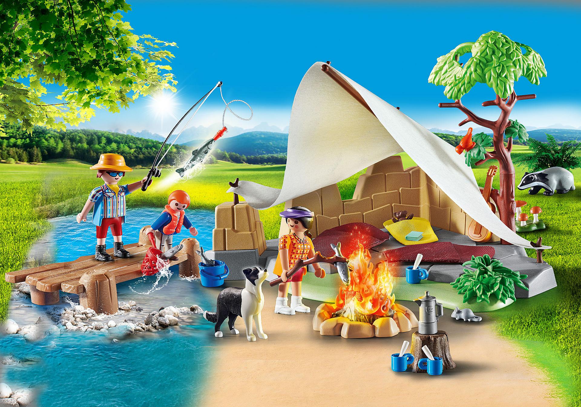 70743 Familie på campingtur zoom image1