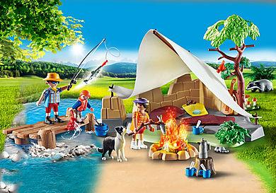 70743 Familie på campingtur