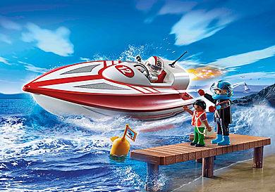 70744 Speedbåd med undervandsmotor