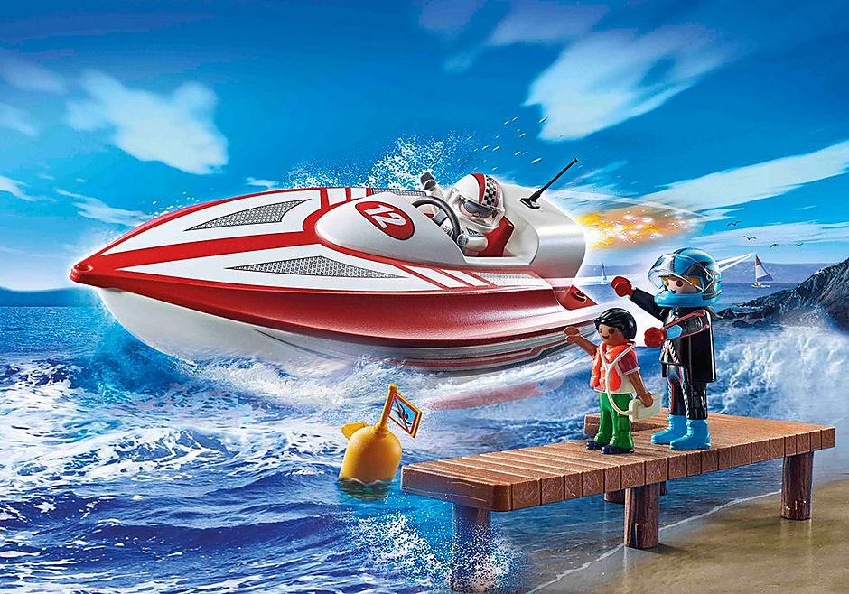 70744 Speedboot mit Unterwassermotor detail image 1