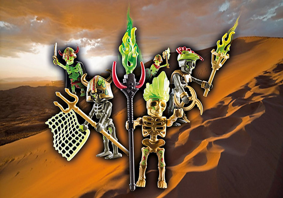 70752 Skeleton Surprise Box - Sal'ahari Sands teschio guerriero detail image 1