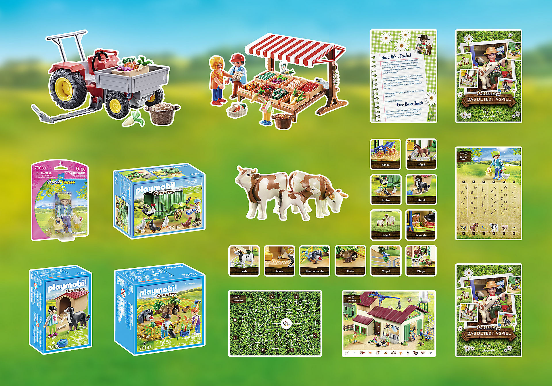70763 PLAYMOBIL®Box: COUNTRY Das Detektivspiel Das Familienevent zoom image3