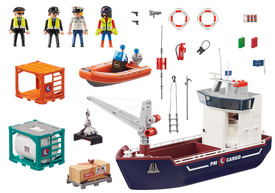 70769 Cargo Ship with Boat detail image 3