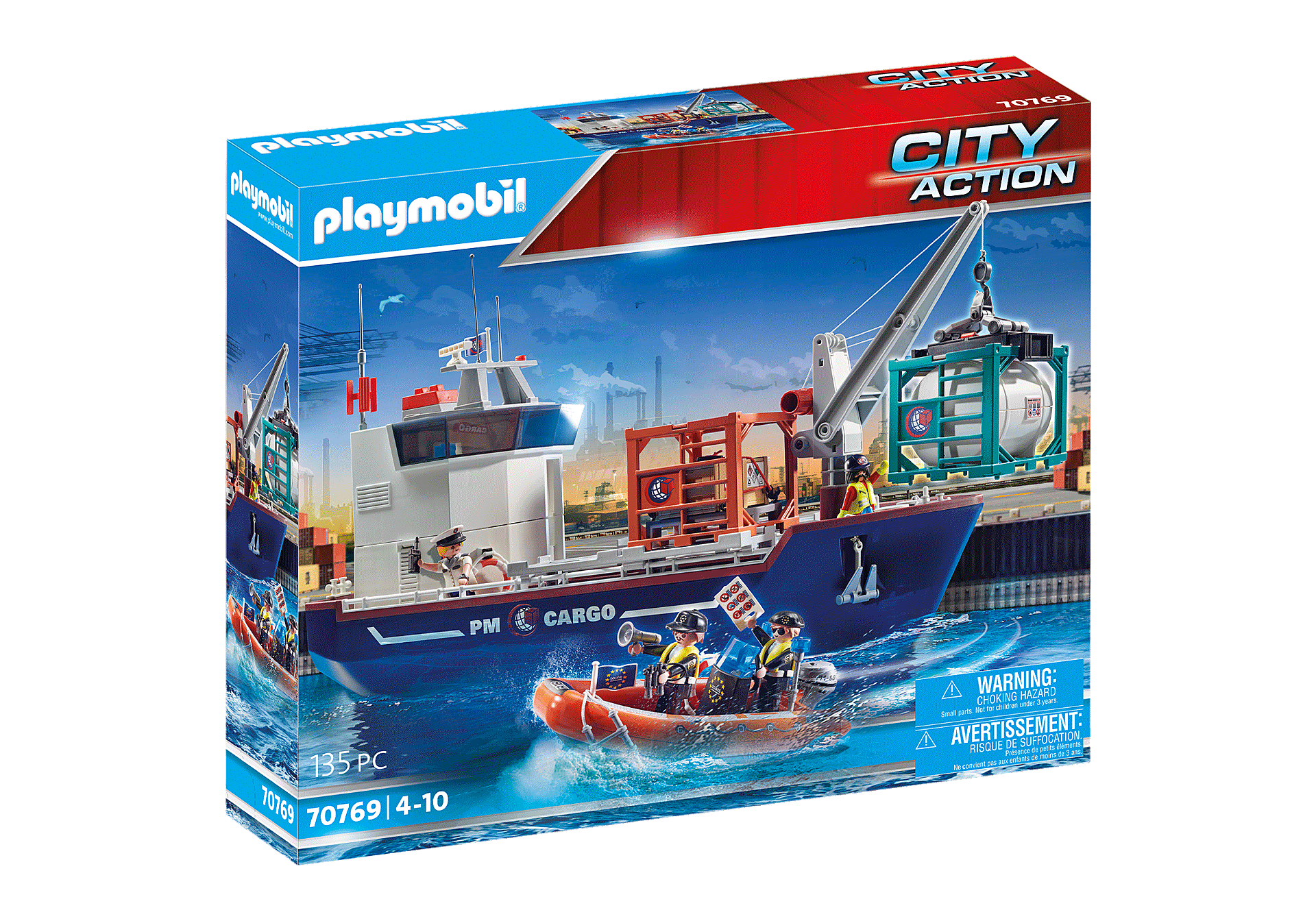 70769 Cargo Ship with Boat zoom image2
