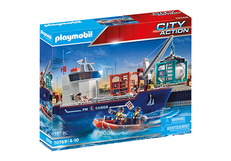 70769 Cargo Ship with Boat detail image 2