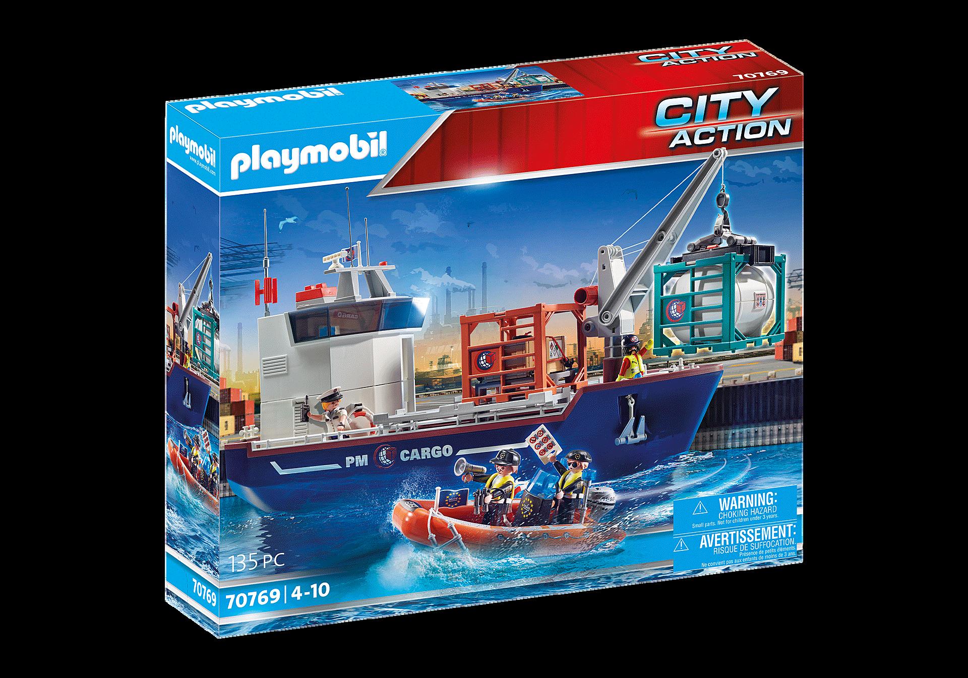 70769 Großes Containerschiff mit Zollboot zoom image2